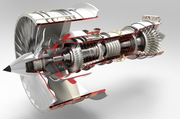 Jet Engine - keyshot rendering competition #2
