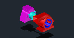 MOTOR BLOWER ASSEMBLY IN AUTOCAD 2013