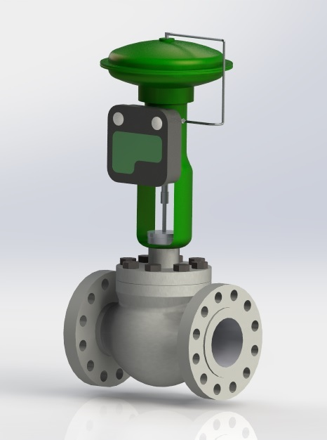 6 Quot Fisher Actuator With C1 Pneumatic Control 3d Cad