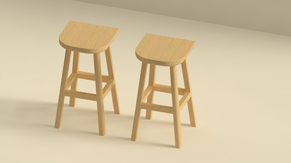 Admirable Bar Stool Dwg 3D Cad Model Library Grabcad Gmtry Best Dining Table And Chair Ideas Images Gmtryco