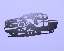 Dodge RAM 1500 wall contour model