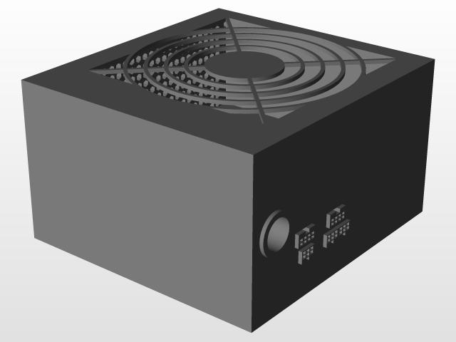 Corsair CX650M Power Supply Enclosure | 3D CAD Model Library | GrabCAD