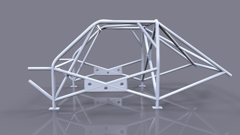 Racing Frame Roll Cage 3d Cad Model Grabcad
