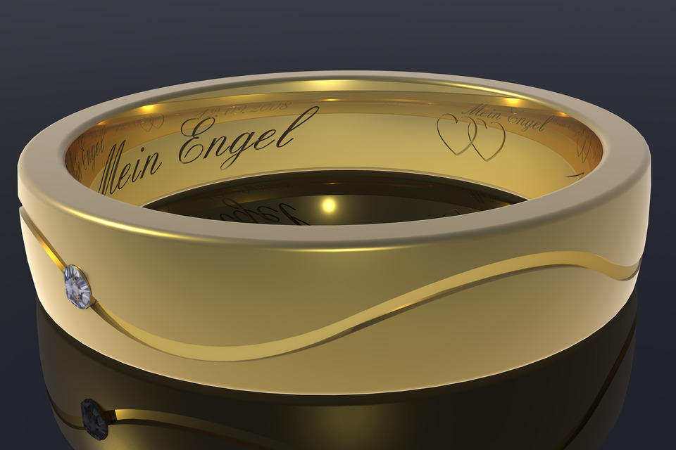 Wedding Ring 3D CAD Model Library GrabCAD