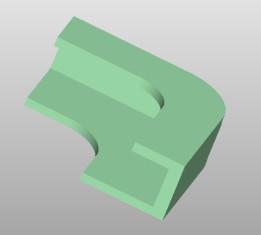 Tablet fastening corner (closed)