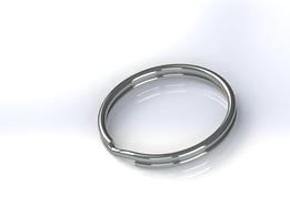Simple metal keyring (28mm dia, 1.8mm width)