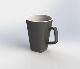 Square Bottom / Circular Top Mug