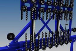 Entraining vertical storage chain