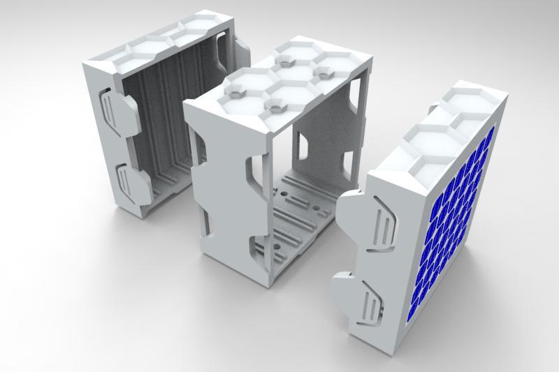 CubeSat Hexagen   3D CAD Model Library   GrabCAD