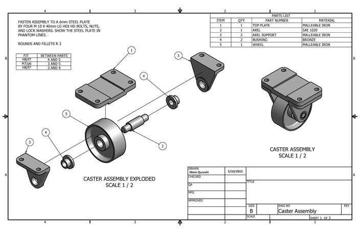 autodesk inventor engineering assembly drawings pdf