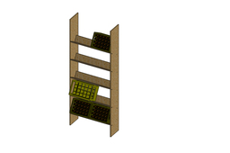 rack shelf for beer crates