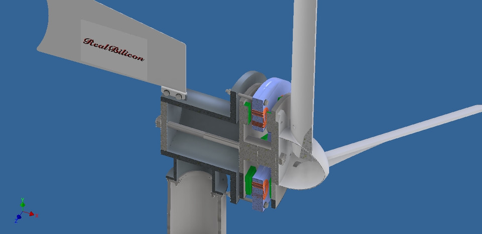 Homemade Wind Turbine | 3D CAD Model Library | GrabCAD