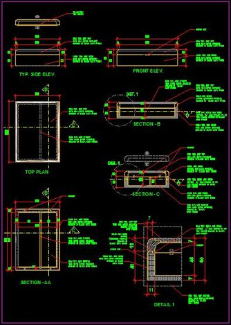 Sample 2D CAD drawing