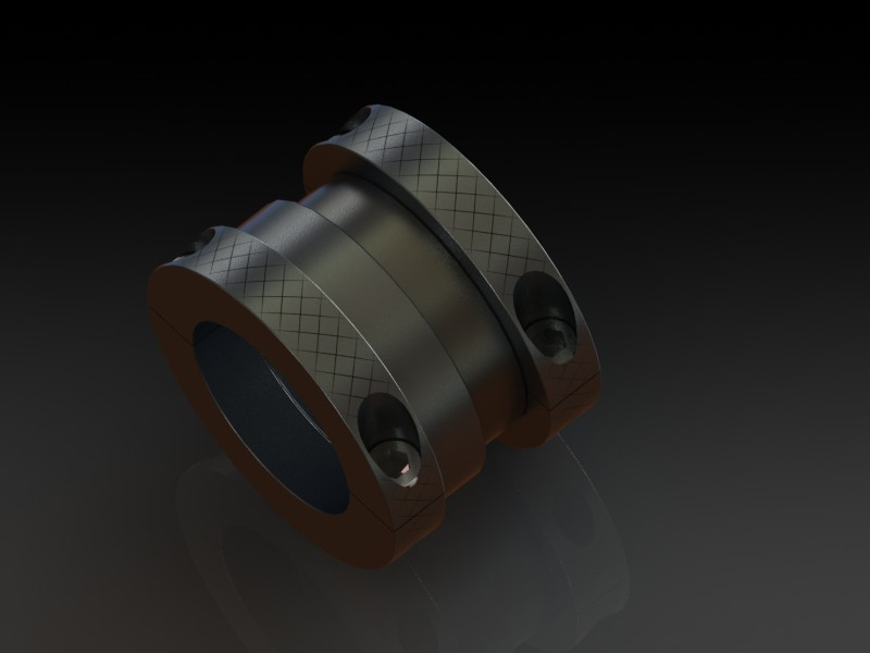 Double sided adjustable width clamp on shaft collars