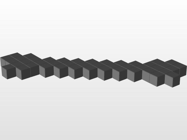 minecraft bone | 3D CAD Model Library | GrabCAD