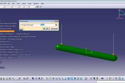 LIFTING BY INCLINED AT AN ANGLE using CATIA V5R20 Parameter