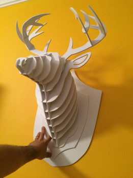 3D Deer Head 3mm Board