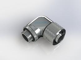 Alphacool revolvable fitting 90° 13-10mm chrome G1/4 #RTIO
