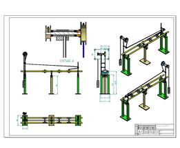 cnc machine mechanical automatic bar feeder