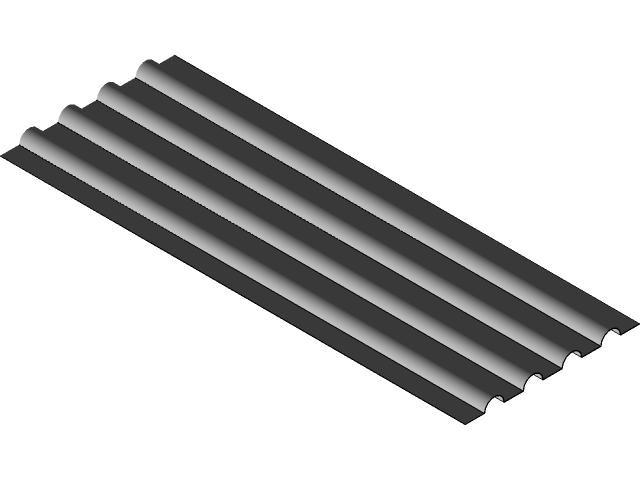 Metal Corrugated Roofing 3d Cad Model Library Grabcad