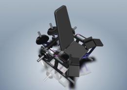 Trainer for efferent thigh muscles (Тренажер для отводящих мышц бедра)