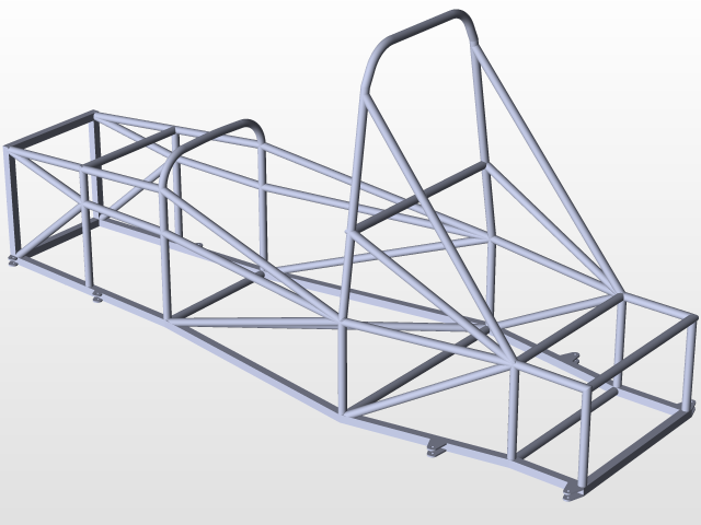 FSAE Space Frame | 3D CAD Model Library | GrabCAD