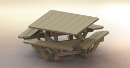 square outdoor table