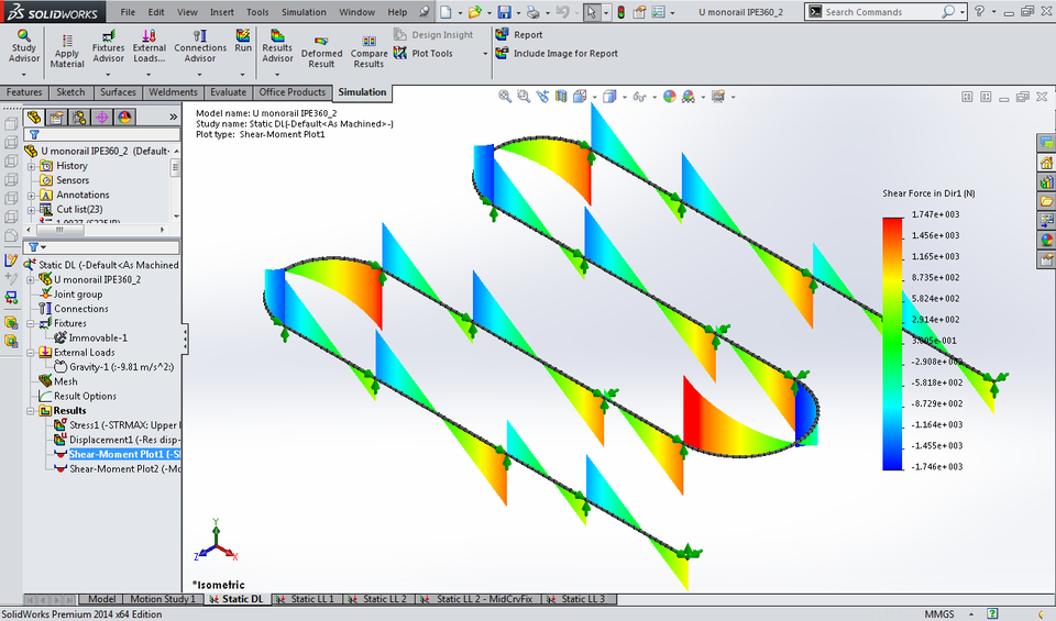 Curved Monorail Beam U-Shaped | 3D CAD Model Library
