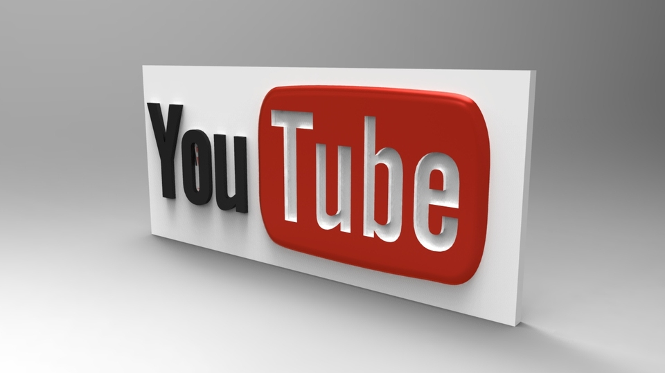 YouTube Logo | 3D CAD Model Library | GrabCAD