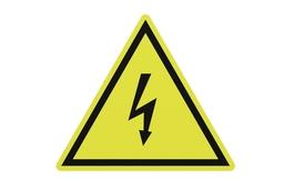 Electrical hazard sign