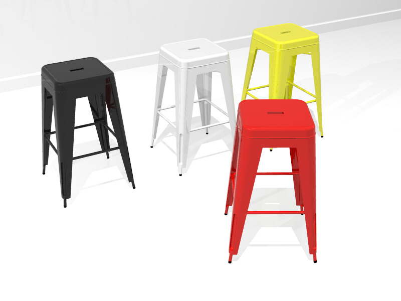 Miraculous Furniture Tolix 3D Cad Model Library Grabcad Gmtry Best Dining Table And Chair Ideas Images Gmtryco