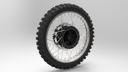 Vintage Dirt Bike Rear Wheel