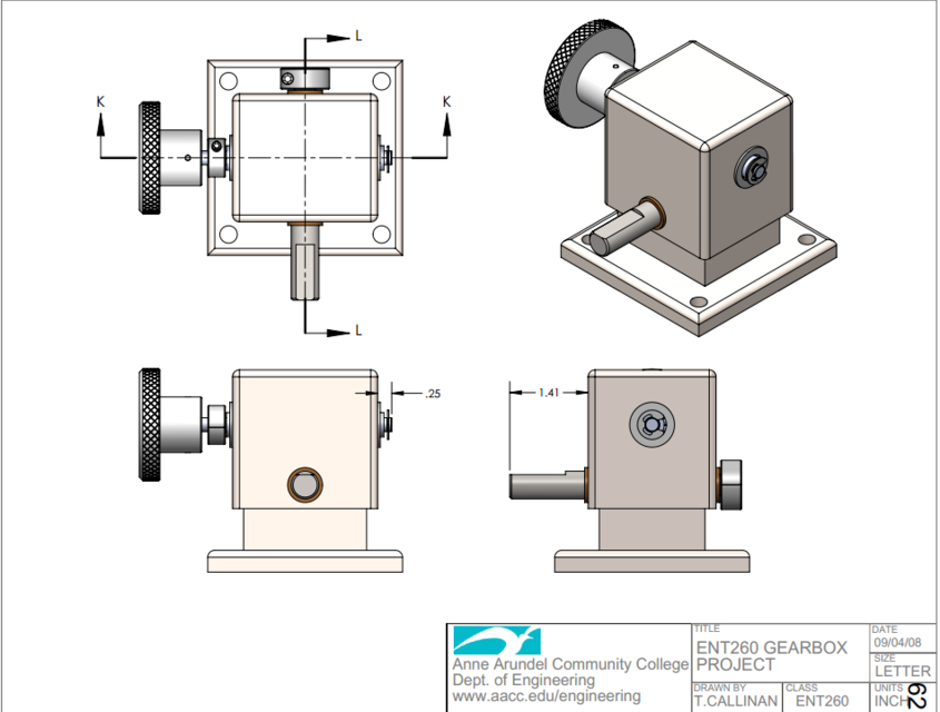 GearBox Assembly | 3D CAD Model Library | GrabCAD