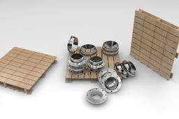 PALLET OF FLANGES