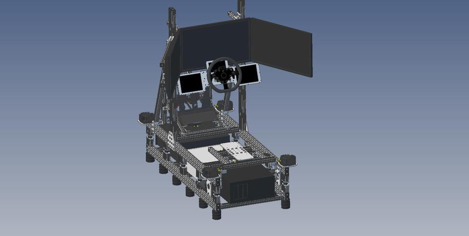 Aluminum Racing Simulator R2 03 | 3D CAD Model Library