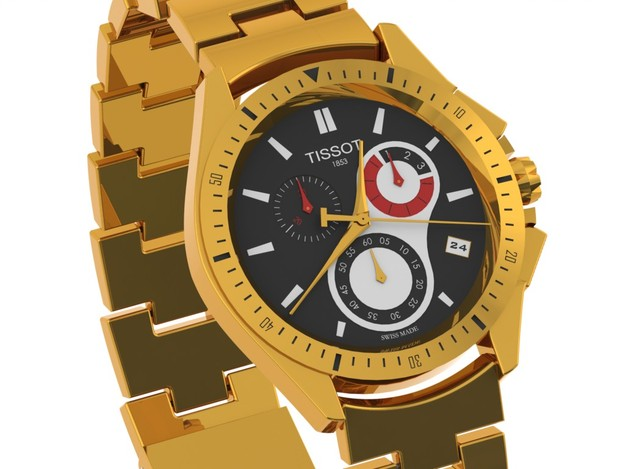 Golden TISSOT Watch