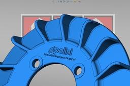 Polini evo ignition fan for Vespa.