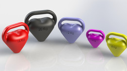 Heart shaped kettle bells