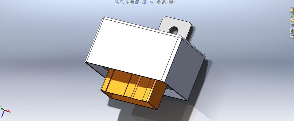Honda PGM-FI Main Relay OBD1   3D CAD Model Library   GrabCAD