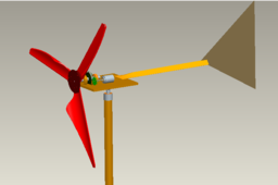 wind turbine with mechanism