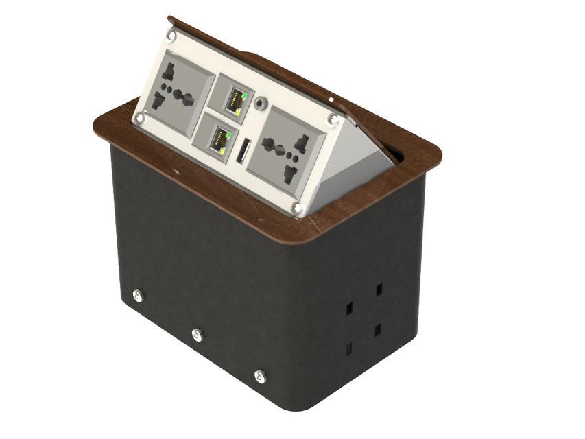 Pop Up Socket Outlet 3d Cad Model Library Grabcad