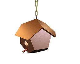 Pentagon wooden birdhouse