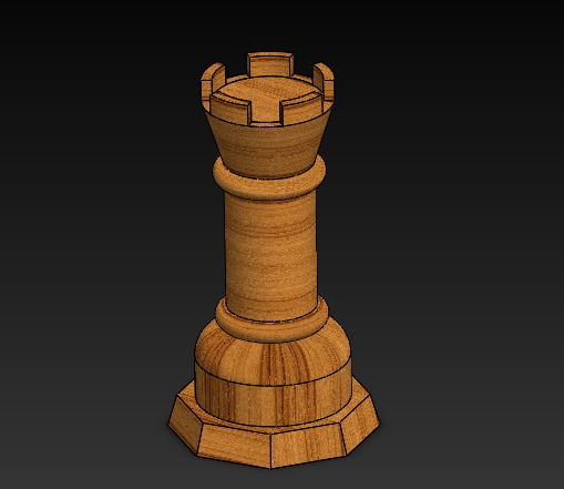 Chess piece rook | 3D CAD Model Library | GrabCAD