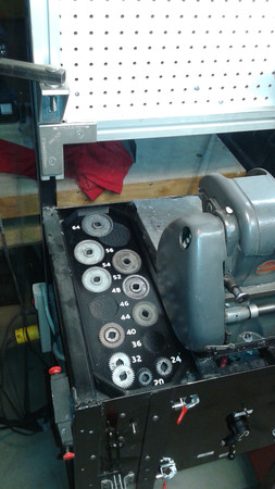 My Atlas 618 Lathe Bench with Gear Tray