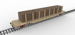 Flat Log Car
