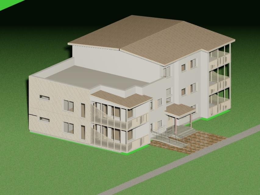 Small apartment building autocad 3d cad model grabcad for Apartment mini model