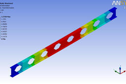 Castellated Beam Analysis in Ansys