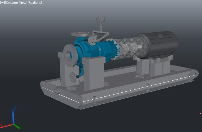 Centrifugal Pump Skid   3D CAD Model Library   GrabCAD