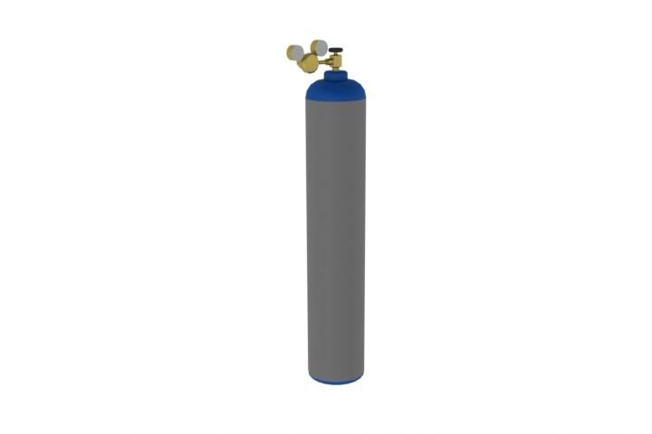 gas oxygen cylinder bottle | 3D CAD Model Library | GrabCAD