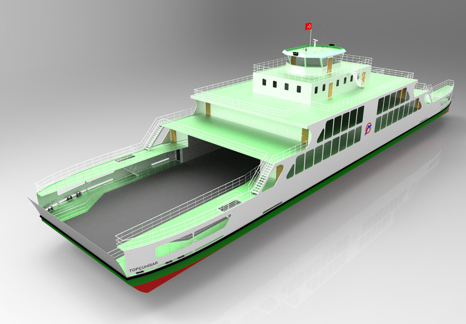Ferryboat Keyshot Rhino 3d Cad Model Grabcad